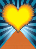 The flaming heart — Stock Vector