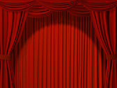 Theatrical curtain — Photo