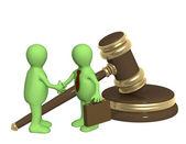Başarılı kararının hukuki bir sorun — Stok fotoğraf