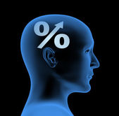 Percentage - an index of intelligence — Stock Photo