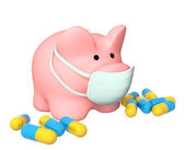 Epidemic of a swine flu — Stock Photo
