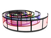 Three colored filmstrips — Stock Photo