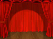 Theatrical curtain — Stock Photo