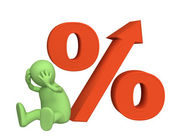 Increase of the interest rate under cred — Stock Photo