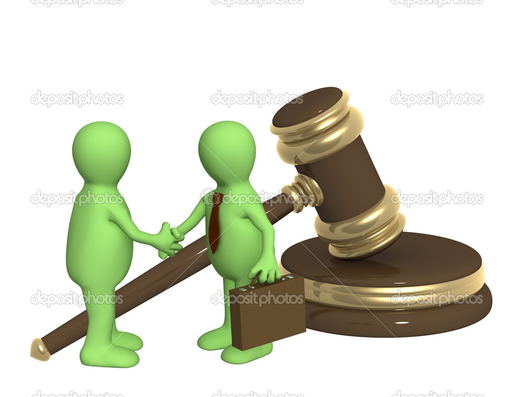 Conceptual image - successful decision of a legal problem — Stock Photo #1055586