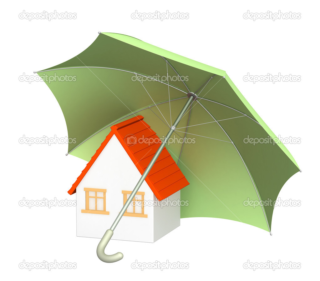 Concept - home insurance. Object over white — Stock Photo #1059505