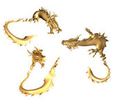 Golden dragons — Stock Photo