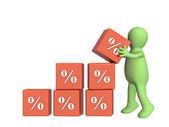 Percent growth — Stock Photo
