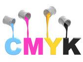 палитра cmyk — Стоковое фото