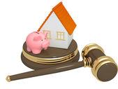 División de bienes en el divorcio — Foto de Stock