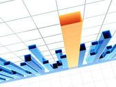 Diagrama 3d, mostrando resultados positivos — Foto de Stock