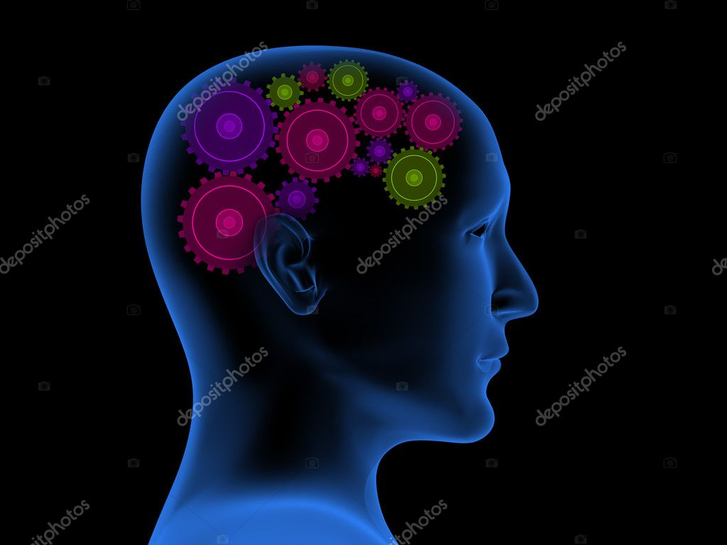 Conceptual 3d image - thought process — Stock Photo #1060491