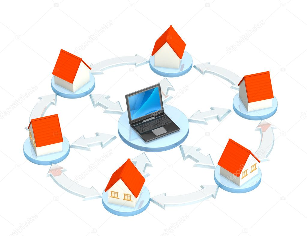 Conceptual 3d image - internet provider — Stock Photo #1061276