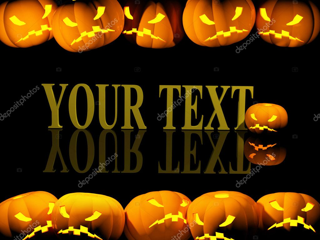 Halloween background with evil pumpkins  Foto Stock #1061815