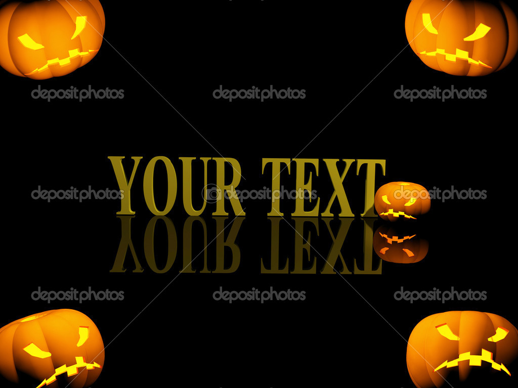 Halloween background with evil pumpkins — Stock Photo #1061823