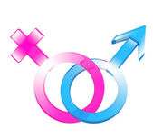 Two symbols - male and female — 图库照片