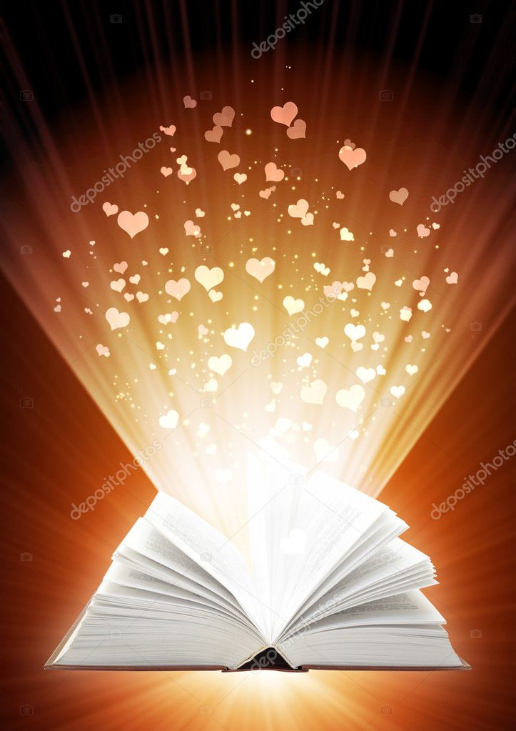 Love fairy-tale - vertical valentine background — Stock Photo #1588853