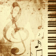 Background with musical symbols — Stock Photo