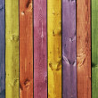 Texture - colored wooden boards — Stock Photo