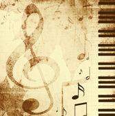 Arka plan ile müzikal sembolleri — Stok fotoğraf