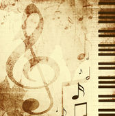 Background with musical symbols — Stok fotoğraf