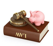 Law and money — Stock Photo