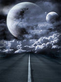 Road to surreal galaxy — Stock Photo