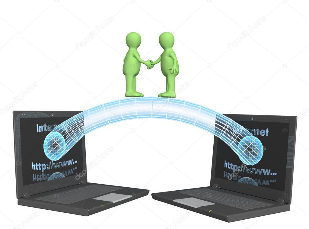 Conceptual image - global communication. 3d — Stock Photo #2155276