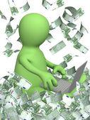 Inkomster på internet — Stockfoto