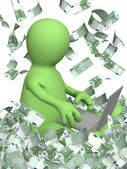 在互联网的收益 — 图库照片