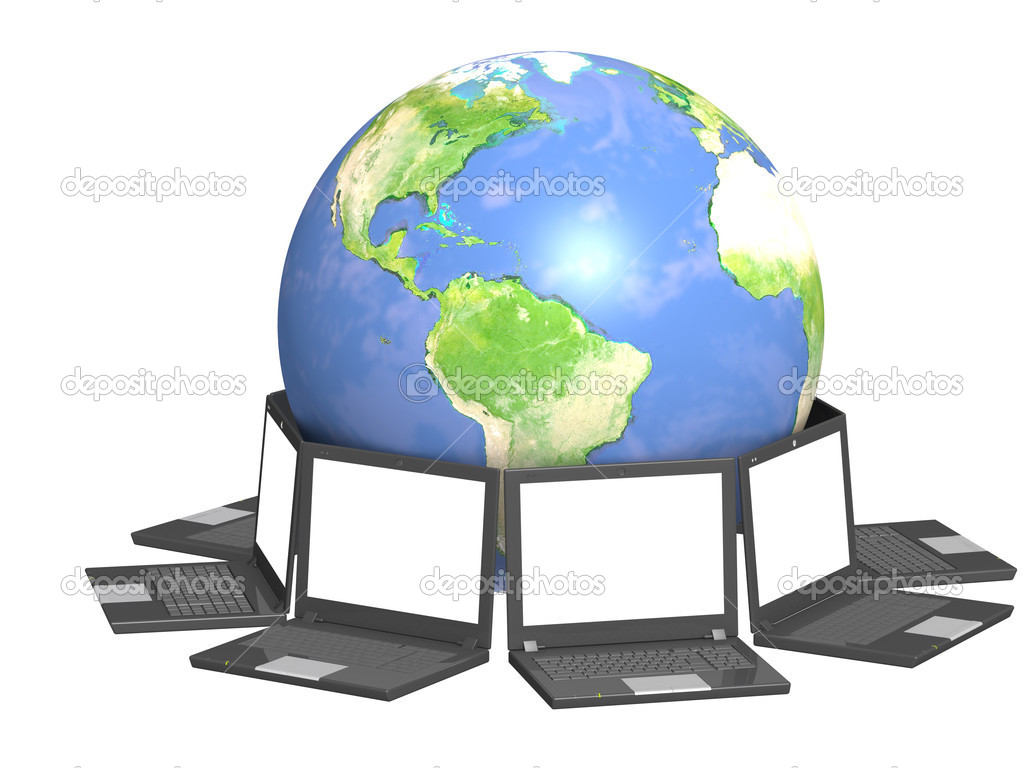 Conceptual image - global communication. 3d — Stock Photo #2404653
