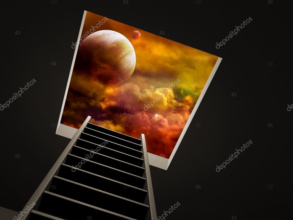 Conceptual image - way to imagination — Stock Photo #2404800