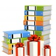 Gifts and folders — Stockfoto
