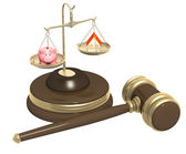 Division of property at divorce — Stock Photo