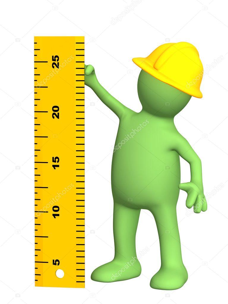 Boneco 3d builder com r gua fotografias de stock Www builder