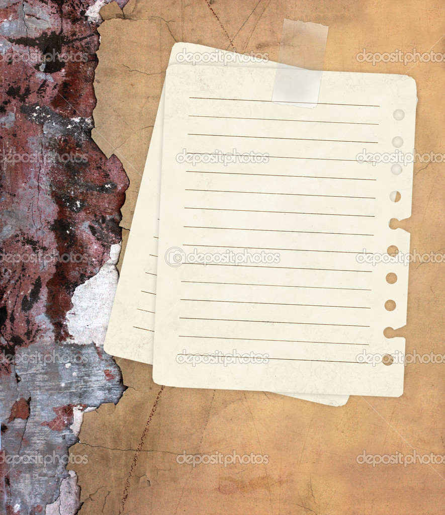 Grunge background with notebook pages  — Stock Photo #2683524
