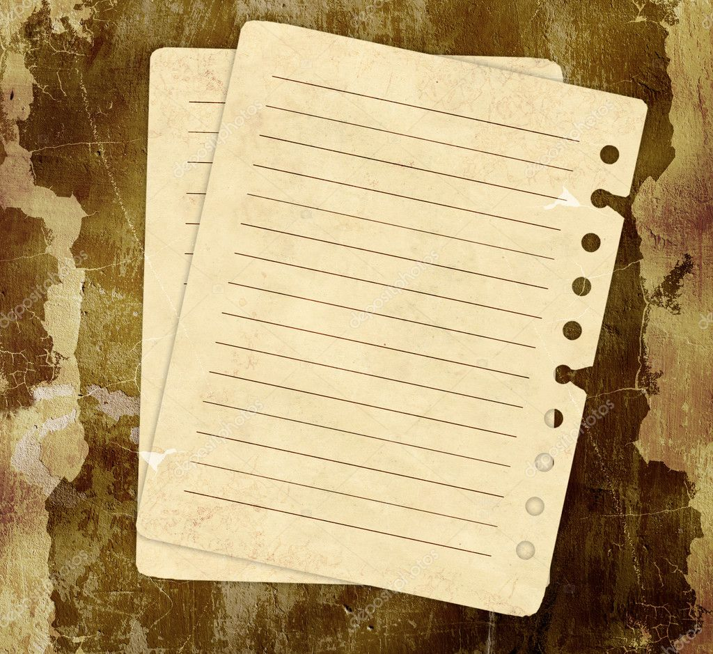 Grunge background with notebook pages  — Stock Photo #2683702