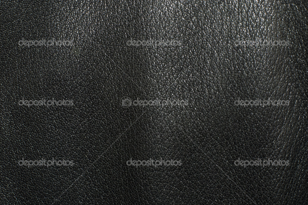 Black leather texture, perfect to use as a background — Stock Photo #1064432