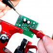 Electronic board testing - Stock Photo