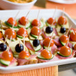 Small canapes — Stock Photo