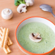Royalty-Free Stock Photo: Broccoli and champignon cream soup