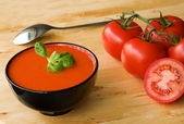 Cold Spanish soup gazpacho — Stock Photo