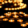 Many burning candles in a church — Stock Photo
