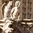 Close-up of gargoyles on the top of Notre-Dame de Paris - Stock Photo