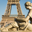 Stock Photo: Statue of woman at the Trocadero
