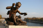 Statue on the Pont Alexandre III — Stock Photo