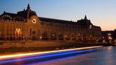 Night view of the Orsay Museum — Stock Photo