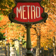 Parisian metro sign — Stock Photo #1070043