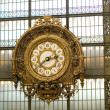 Closeup of the clock in the Orsay museum — Foto de Stock