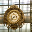 Closeup of the clock in the Orsay museum — Stock Photo